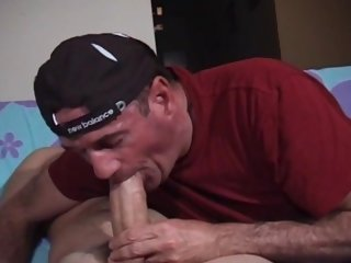I pay his girlfriend to let me suck her big beefy Latino stud boyfriends beer can cock.