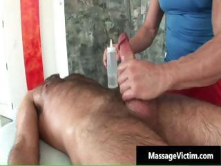 Hot and horny dude gets the massage part