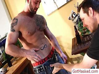 Amazing pierced french guy showing his fine body by gotmasked