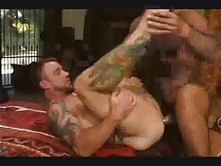 Tattooed Gays Group Banging