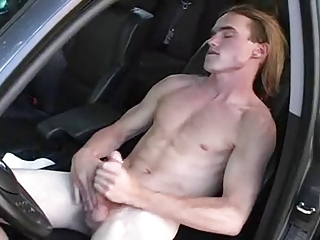 Long Hair Jerking In His Car