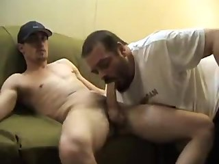 Daddy sucking White Boy