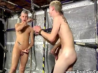 Amazing twinks Luca has no choice, the men flog him into subjugation and