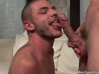 Sexy muscled guy fucks his hot friend