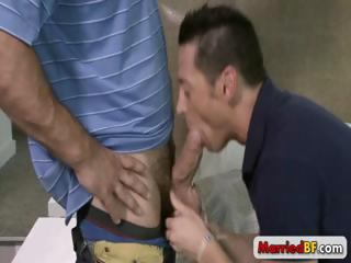 Married guy sucking massive cock part