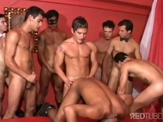 Brazilian gay cum party is live