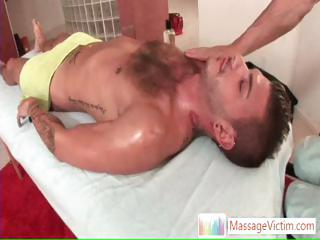 Tristan Mathews gets oiled and massaged part