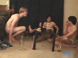 Super hot gay teens having a game party part