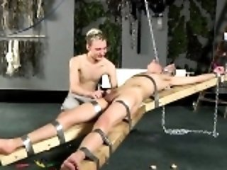 Amazing twinks Dean gets tickled, super-steamy paraffin wax