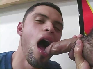 Cute guy love suck and swallow cum