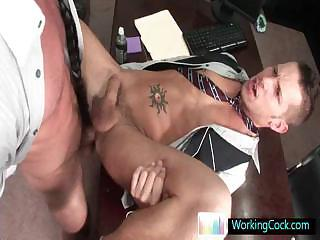 Shane getting some fat cock up his anus By WorkingCock