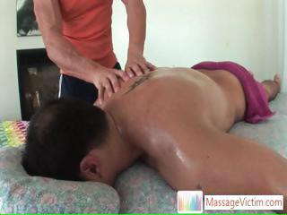 Guy about to get anus massage part