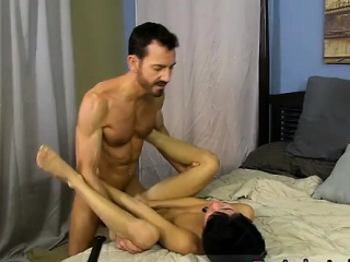 The haircut gay french porn He paddles the roped man until h