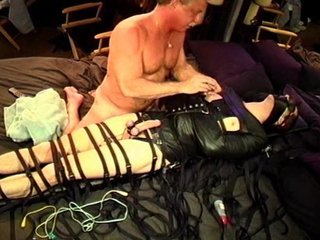 CBT electrostim and bondage for beginner