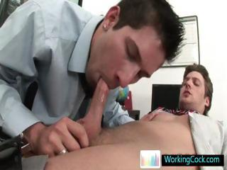 Andrew getting his big fat dick sucked hard and deep By WorkingCock part
