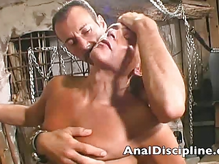 Submissive slave from his master