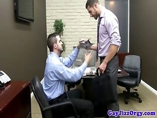 Cumshot loving stud joins secret stud society