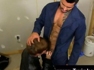 Hot twink scene Kyler Moss sneaks into the janitors apartment for a swift smoke