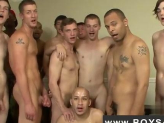 Smutty Latino Gets Covered in gang bang Cum