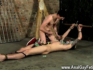 Gay video His assets is exposed, prepped for the devious twi
