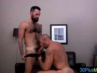Gay bears cock suck and adore the ass rimming