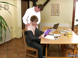 Hot gay play for boss
