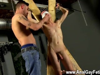 Gay porn Reece is the unwilling blindfolded victim, with Adam wanking and