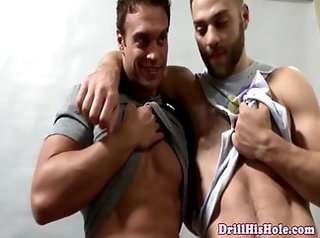 3some, anal games, colt, cumshot, homosexual, muscle