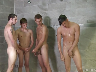 Cock Virgins Shower Dick Competition