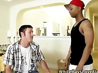 Horny amateur gay thug gets hot bj