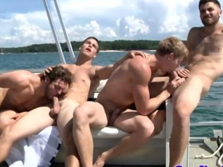 Cock sucking hunks cruise on ocean waves