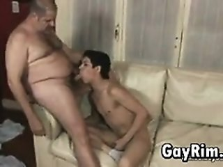 Twink Sucking And Fucking A Fat Guy