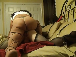 Sexy Top Crossdresser Fucks Hot Bottom Crossdresser Doggy