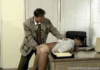 cop is punished and fucked by boss