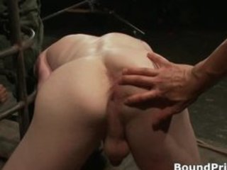 bound guy receives his anus licked gay bdsm part2