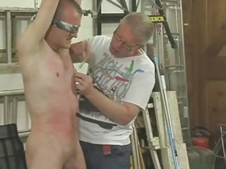 hawt homosexual hunk gets tied blindfolded and dominated