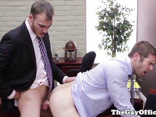 built office hunk tempted by his boss