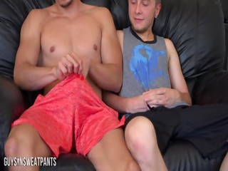 two pals together with a web camera - Free Gay Porn about palsinsweatpants - Video 128746
