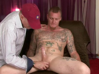 Redneck straight boy lets me lapp up suck his trouser snake-