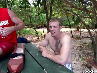 jock hunter life guard fucked into the backdoor