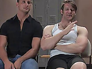 pair of muscle homosexuals enslavement fuck in gym