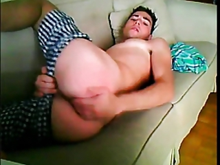 Cute Guy fingers himself on Webcam