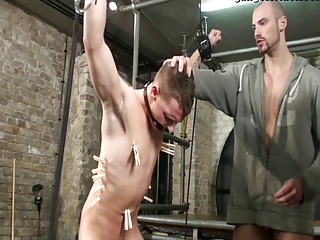 BDSM Slave gay boy bound fucked  ...