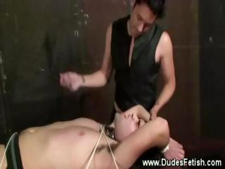 Worthless gay gets domination treatment