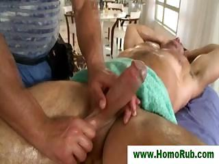 Gay cock massage for straight dude