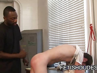 Fetish dude Hot Boi spanking some asses