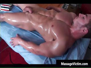 Super hot bodied guy gets oiled for...