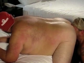 Gay sucking fat tattoed bear     ;s cock