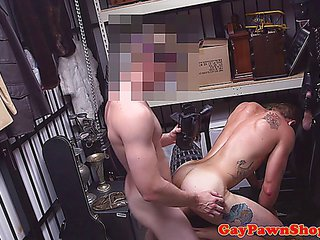 Pawnshop beginner getting anally fucked into the backdoor by delighted pawn broker