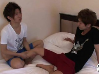 lush japanese hot twinks gets fucking